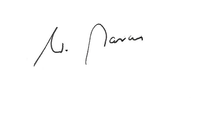Unterschrift W. Marcus